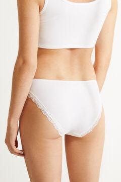 Womensecret Braguita clásica algodón encaje blanco