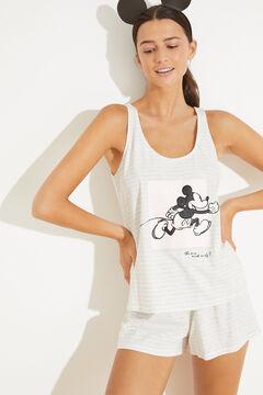 Womensecret Short cotton vest pyjamas grey