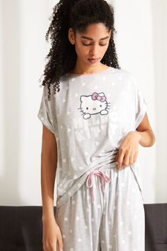 Womensecret Capri-Pyjama superweiche Hello Kitty Grau Grau