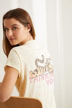 Womensecret Pijama camisero Capri Tigger algodón amarillo estampado
