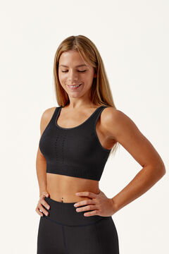Womensecret Crop Top YUMA Black negro