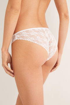 Womensecret Classic lace panty white