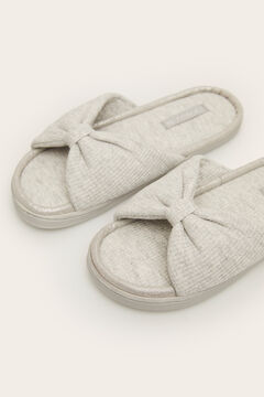 Womensecret Textured knot slippers grey