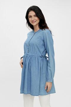 Womensecret Túnica maternity de algodão orgânico azul