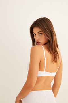 Womensecret Wireless triangular bra white