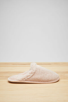 Womensecret Pink velour slippers pink