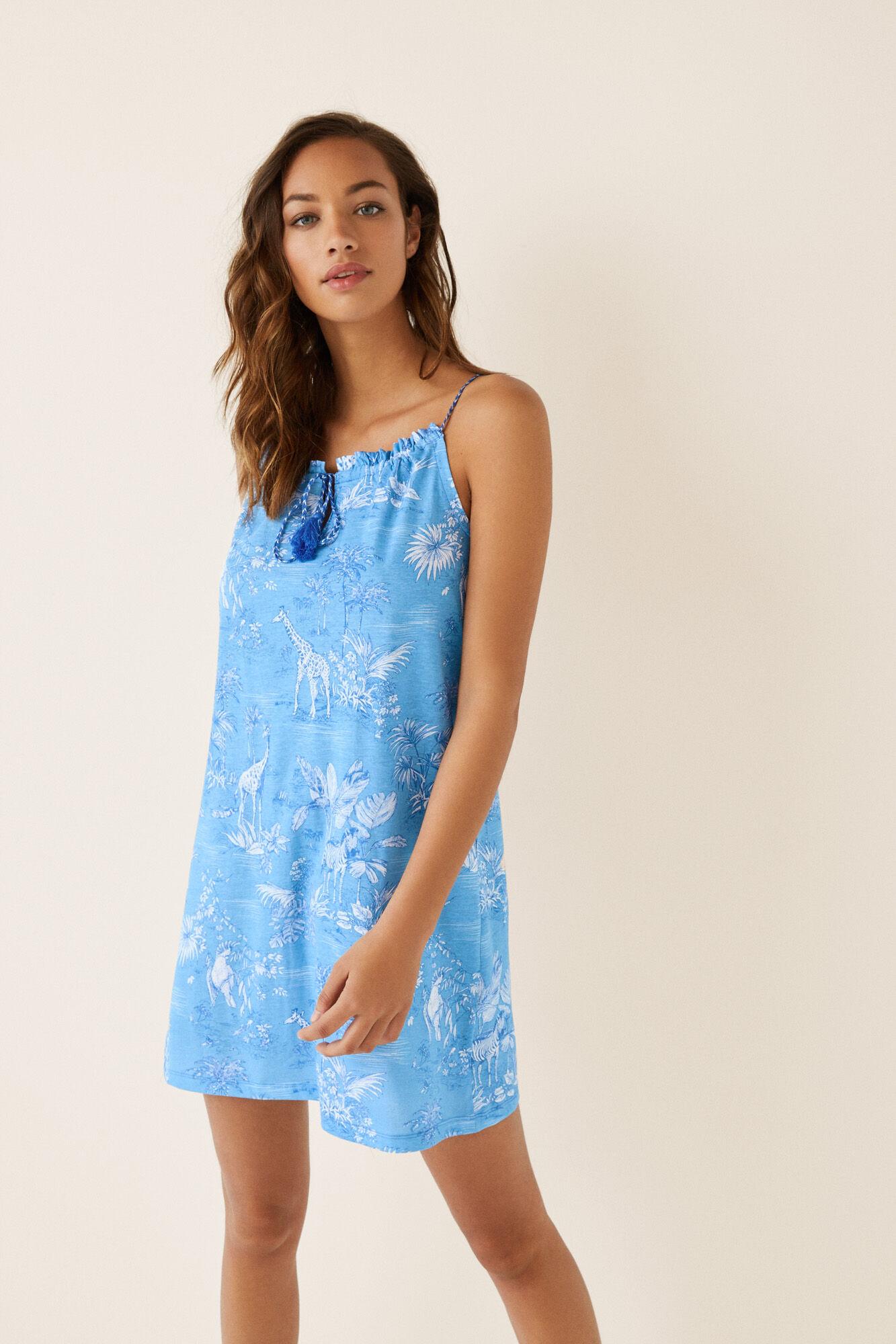 2827964b9 Camisón corto azul tropical