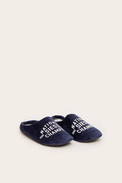Womensecret Zapatillas casa destalonada hombre Siesta azul azul