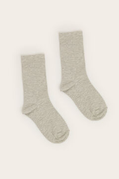 Womensecret Grey lurex long print socks grey