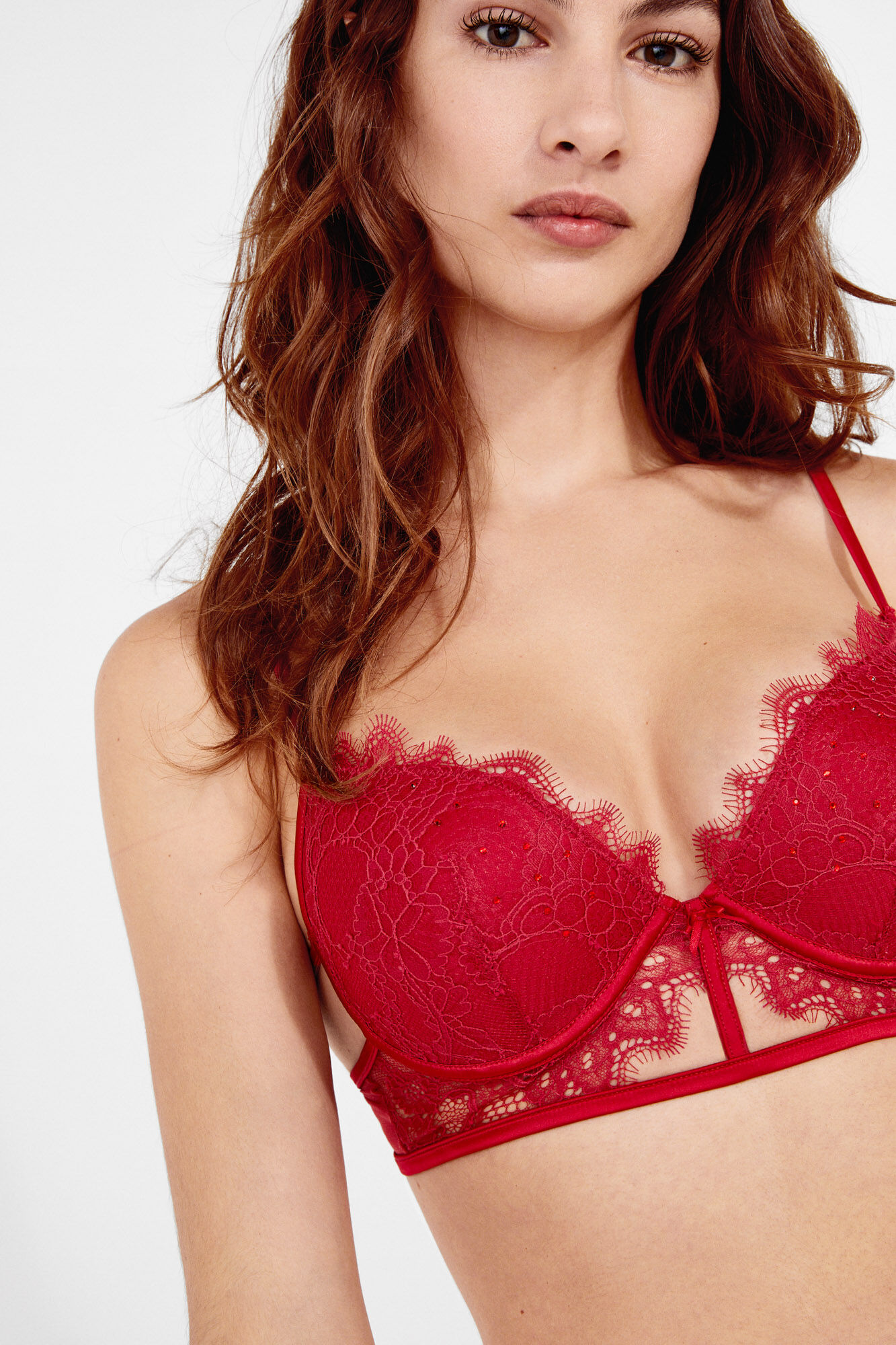 d0b4fea0445 Lace and tulle push-up bra
