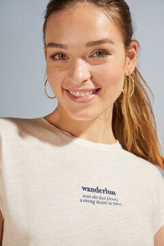 Womensecret White short-sleeved top grey