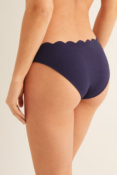 Womensecret Hullámos díszítésű bikinialsó kék