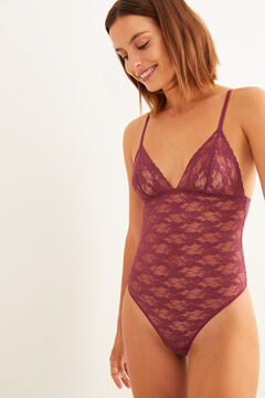 Womensecret Maroon lace body red