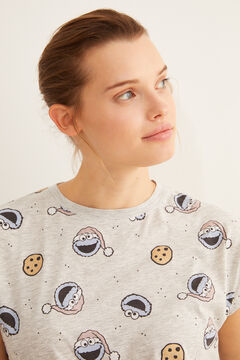 Womensecret Short-sleeved Cookie Monster pyjamas vert