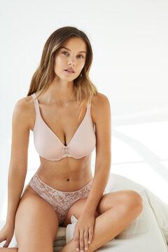 Womensecret REAL Pink underwired minimiser bra pink