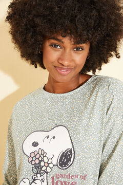 Womensecret Green cotton Snoopy nightgown green