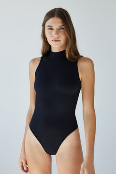 Womensecret Black high neck seamless body black
