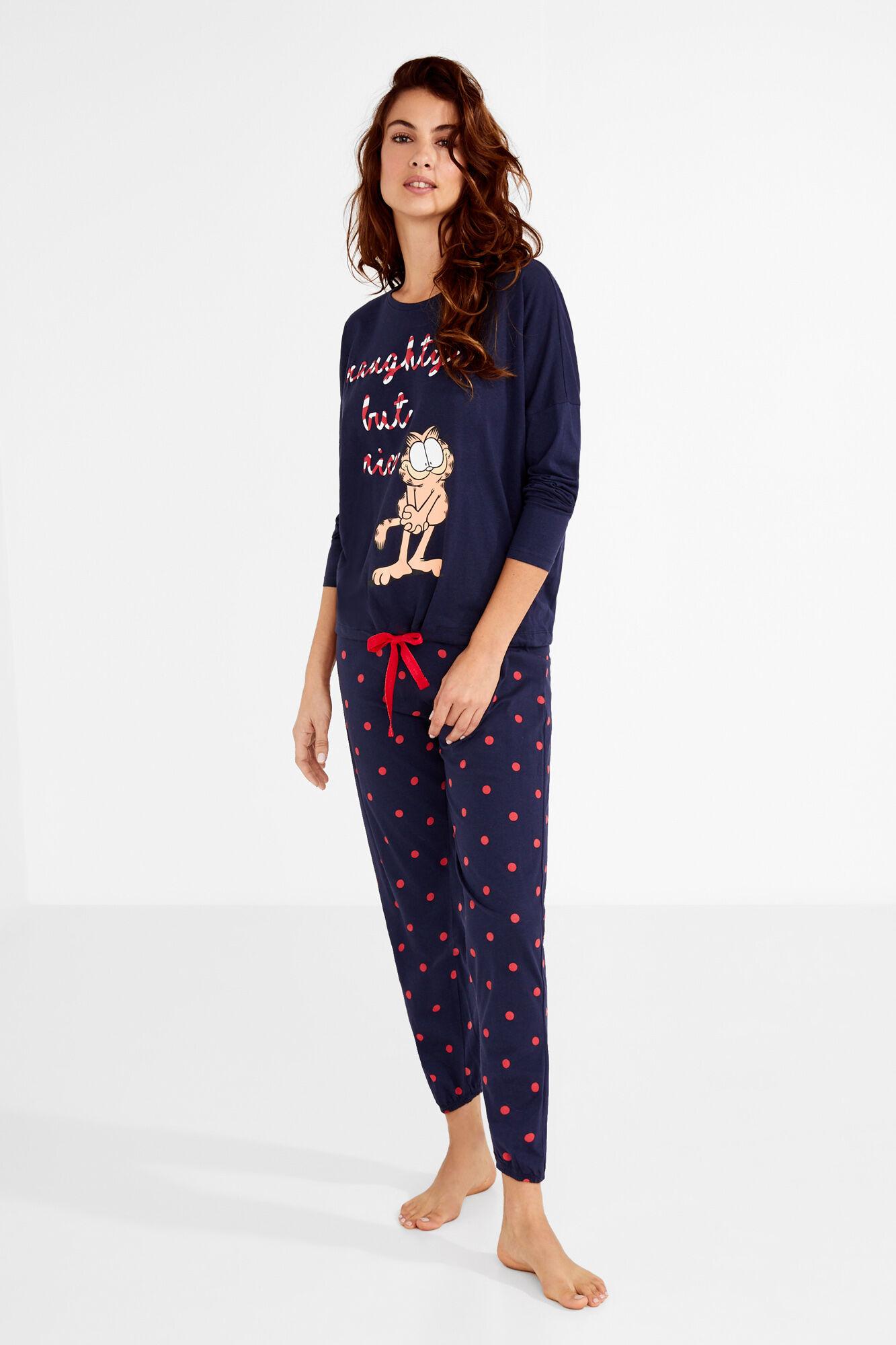 5bfb0a059e largo Pijama Garfield algodón largo algodón Pijama awHUxq15