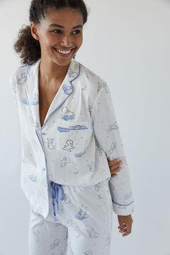 Womensecret Pijama camiseiro algodão Casper marfim 100% algodão beige