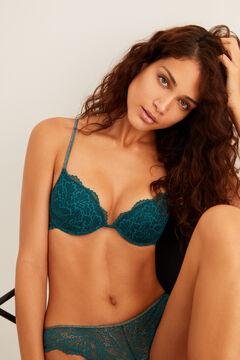 Womensecret Classic lace padded bra green