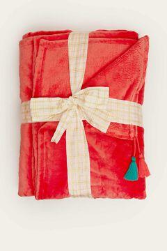 Womensecret Cobertor casa vermelho vermelho