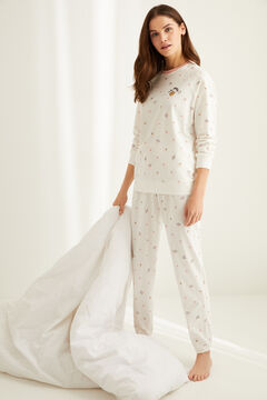 Womensecret Pyjama long coton « Le Fruit » blanc