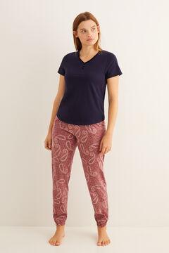 Womensecret T-shirt serafino manches courtes navy bleu