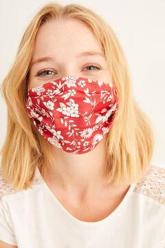 Womensecret Máscara higiénica homologada reutilizável flores bordeaux impressão
