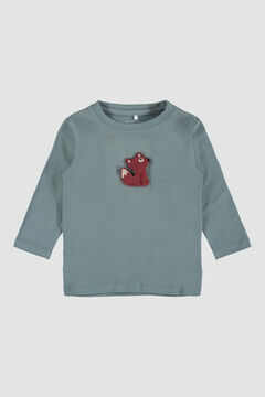 Womensecret Camiseta animal de bebé gris