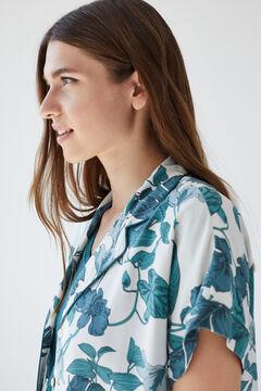 Womensecret Classic tropical short-sleeved pyjamas green