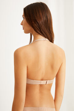Womensecret Multiway triangle bra nude