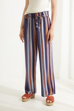 Womensecret Striped wide leg pyjama bottoms printed