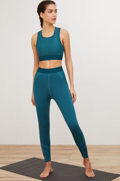 Womensecret Long ankle-length leggings blue