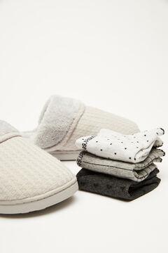 Womensecret 3-pack grey short socks  grey
