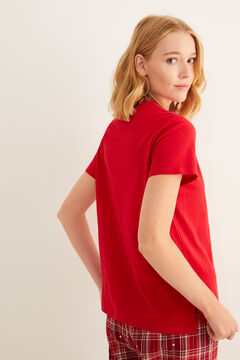 Womensecret Red Better Together short-sleeved top burgundy