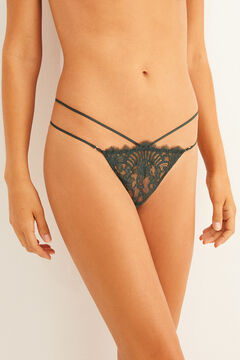 Womensecret Green lace strappy G-string  green