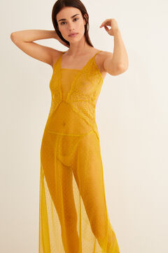Womensecret Plumetis and lace nightgown printed