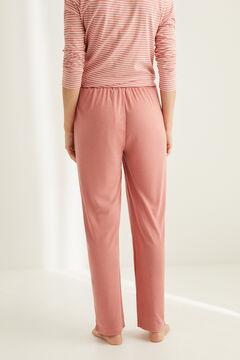Womensecret Pantalón pata ancha súper soft rosa rosa