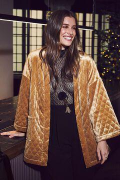Womensecret Robe acolchoado curto veludo impressão