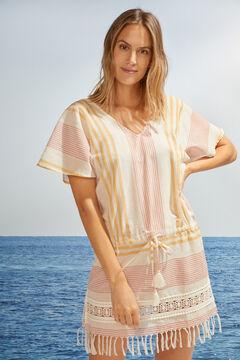 Womensecret Robe de plage rayures 100 % coton imprimé