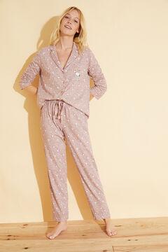 Womensecret Classic floral cotton Snoopy pyjamas pink
