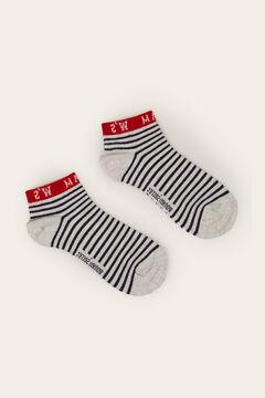 Womensecret Vicces mintás rövid zokni fehér