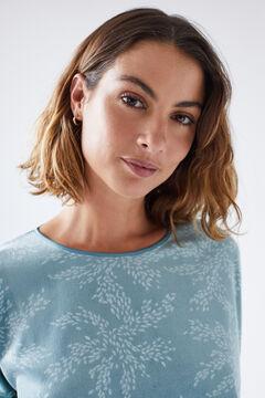 Womensecret Long green printed pyjamas green