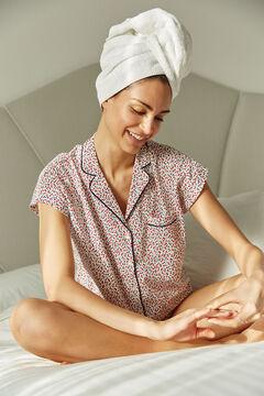 Womensecret Pyjama chemise coton fleurs blanc
