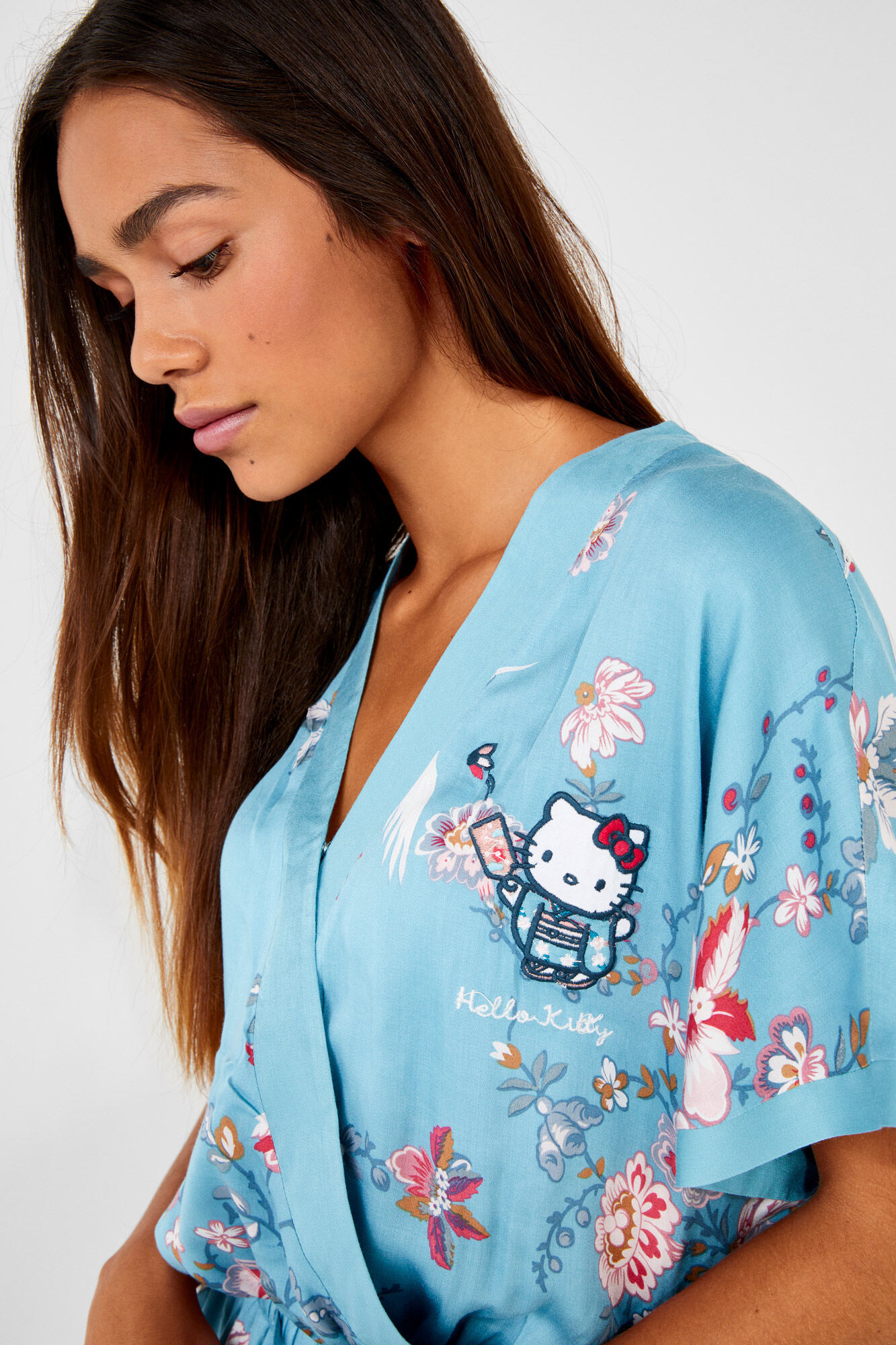 7b68724b3 Long Hello Kitty satin jumpsuit   Jumpsuits   Women'secret