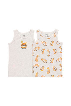 Womensecret Pack 2 camiseta para menino - orgânico cinzento