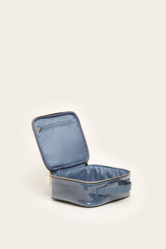 Womensecret Laminated faux shearling vanity case blue