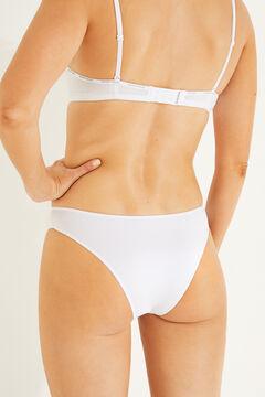 Womensecret 3 microfiber brazilian panties pack white