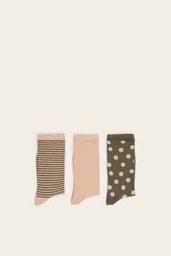 Womensecret Pack de 3 meias estampadas verde