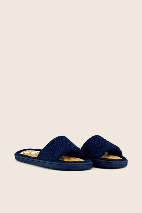 6174bac6da Womensecret Zapatillas casa abiertas Snoopy azul
